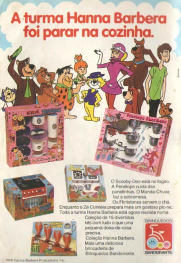 Coleção de brincar de cozinha Hanna Barbera
